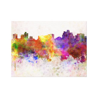 Reno skyline in watercolor background canvas print
