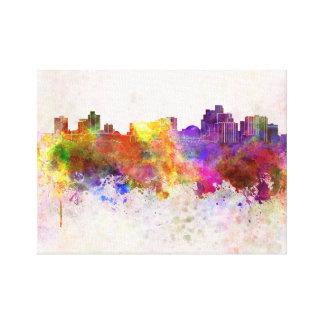 Reno skyline in watercolor background impresión de lienzo