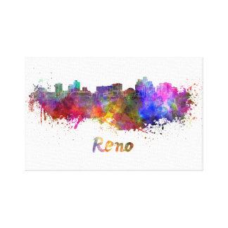 Reno skyline in watercolor canvas print