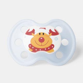 ¡Reno tonto lindo del navidad! (Personalizar él!) Chupetes Para Bebes