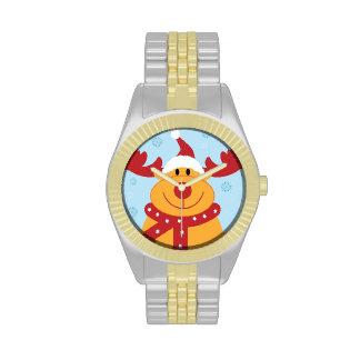 ¡Reno tonto lindo del navidad Personalizar él Reloj De Mano