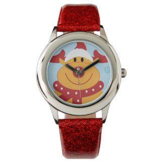 ¡Reno tonto lindo del navidad! (Personalizar él!) Relojes