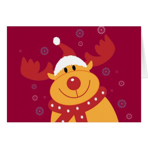¡Reno tonto lindo del navidad! (Personalizar él!) Tarjeta De Felicitación