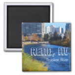 Reno / Truckee River downtown 2 Inch Square Magnet