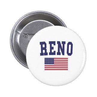 Reno US Flag Button