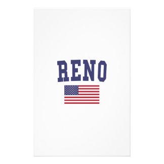 Reno US Flag Stationery
