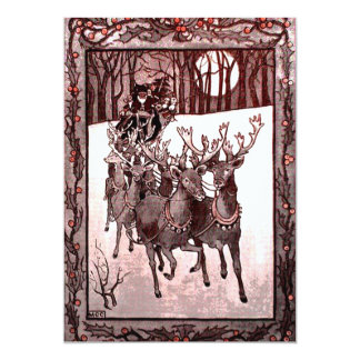 Reno y trineo de Papá Noel