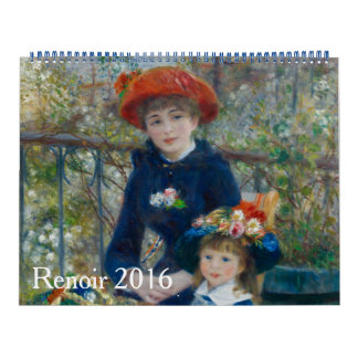 Renoir 2016 calendarios de pared