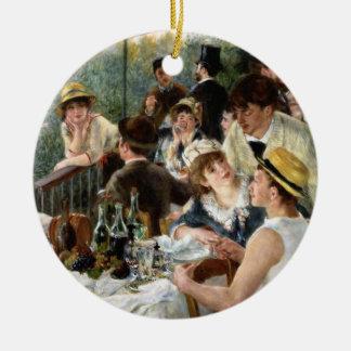 Renoir: Alumerzo del fiesta del canotaje Adorno Navideño Redondo De Cerámica