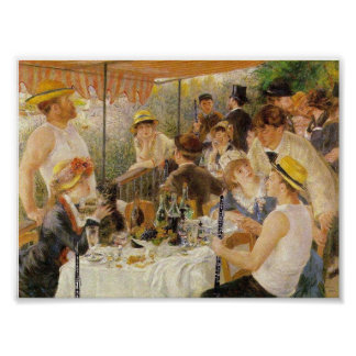 Renoir, alumerzo del fiesta del canotaje (con Oboe Poster