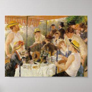 Renoir, alumerzo del fiesta del canotaje (con Oboe Póster