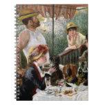 Renoir: Alumerzo del fiesta del canotaje Cuaderno