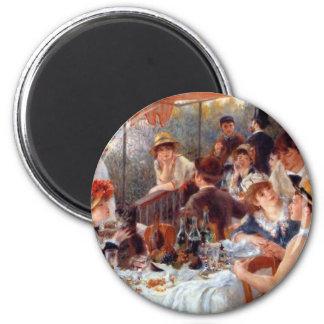 Renoir: Alumerzo del fiesta del canotaje Imán Redondo 5 Cm