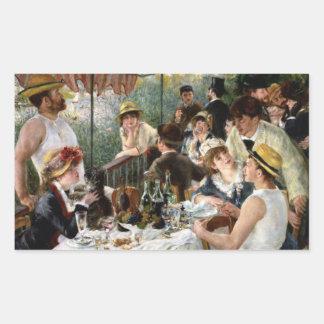 Renoir: Alumerzo del fiesta del canotaje Pegatina Rectangular