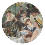 Renoir: Alumerzo del fiesta del canotaje Plato Para Fiesta