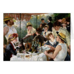 Renoir: Alumerzo del fiesta del canotaje Tarjetón