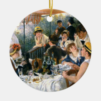 """Renoir, """"alumerzo ornamento del fiesta del adorno navideño redondo de cerámica"""