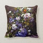Renoir - Blue Vase Throw Pillow