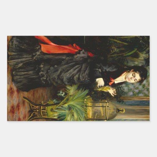 Renoir by Pierre Renoir Rectangular Stickers