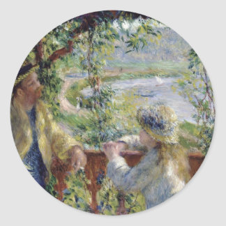 Renoir: By the Water, Classic Round Sticker