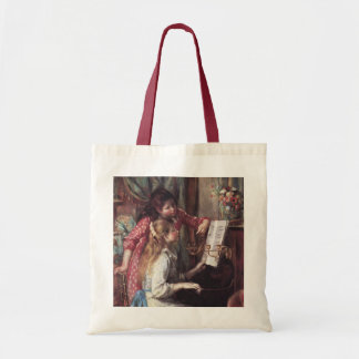 Renoir: Chicas en el piano Bolsa Tela Barata
