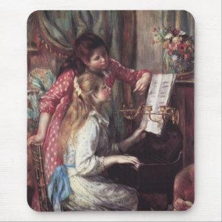 Renoir Chicas en el piano Tapetes De Ratón