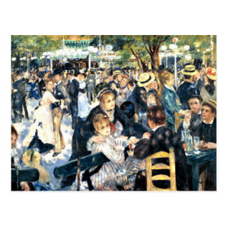 Renoir - Dance at Le Moulin de la Galette Postcard