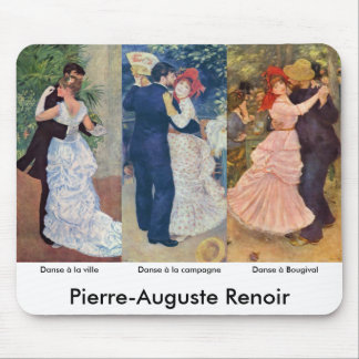 Renoir - Dance in the City, Country, and Bougival Mouse Pad