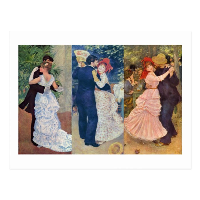 Renoir - Dance in the City, Country, and Bougival Postcard