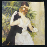 "Renoir Dance in the City Napkins<br><div class=""desc"">Renoir Dance in the City napkins. Oil painting on canvas from 1883. One of Pierre-Auguste Renoir's famous dancing couples paintings, Dance in the City depicts a woman with light brown hair swaying with a man in a tuxedo. The woman wears a pink flower in her hair, long white gloves, and...</div>"