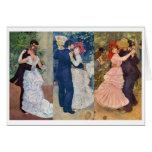 Renoir - danza en la ciudad, el país, y el Bougiva Felicitacion