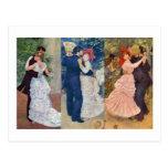 Renoir - danza en la ciudad, el país, y el Bougiva Postales
