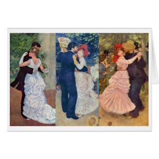 Renoir - danza en la ciudad, el país, y el tarjeta pequeña