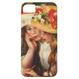 Renoir dos chicas que leen en el caso del iPhone d iPhone 5 Case-Mate Coberturas