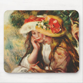 Renoir dos chicas que leen en el cojín de ratón de alfombrillas de ratón