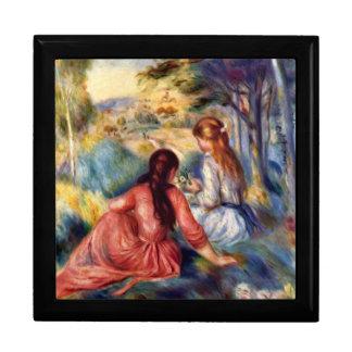Renoir: Dos chicas que se sientan en hierba Caja De Regalo