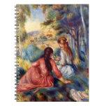 Renoir: Dos chicas que se sientan en hierba Libreta Espiral