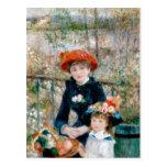 Renoir dos hermanas en la bella arte del vintage d tarjeta postal