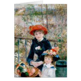 Renoir dos hermanas en la bella arte del vintage tarjeta pequeña