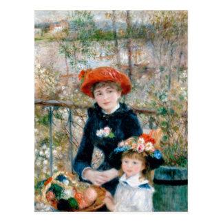 Renoir dos hermanas en la bella arte del vintage tarjetas postales
