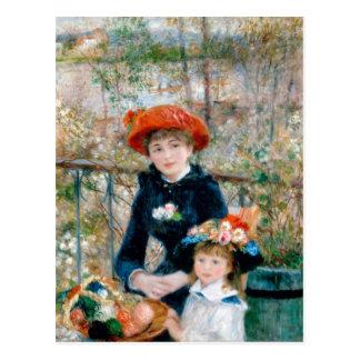 """Renoir """"dos hermanas (en la terraza) """" postales"""