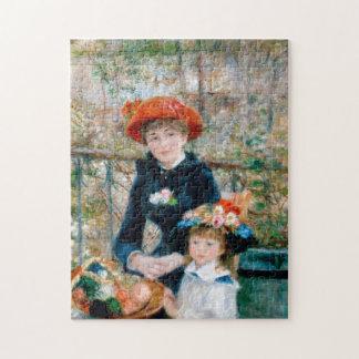 """Renoir """"dos hermanas (en la terraza) """" puzzle"""