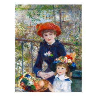 Renoir dos hermanas en una postal de la terraza CC