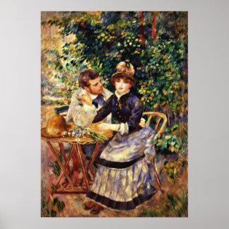 Renoir - en el jardín poster