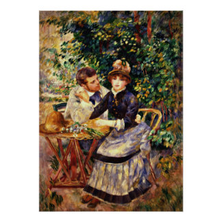 Renoir - en el jardín póster