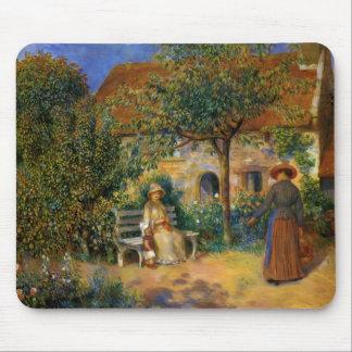 Renoir Escena del jardín en Bretaña Tapete De Raton