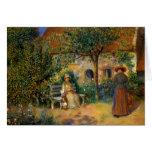Renoir: Escena del jardín en Bretaña Felicitaciones
