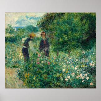 Renoir, escogiendo las flores poster