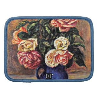 Renoir floral painting: Roses in a Blue Vase Folio Planner