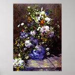 Renoir - florero azul poster
